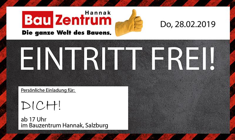 Hannak feat. DOMOFERM: Trockenbauveranstaltung am 28.02.2019